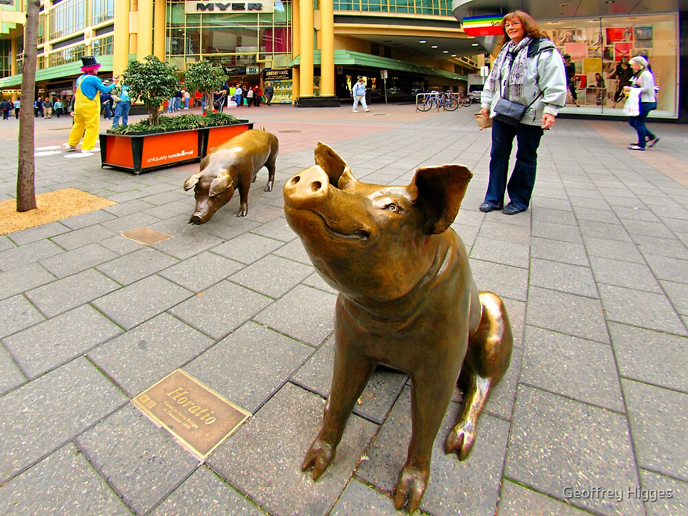 Sculpture in Shopping Mall, Adelaide by Geoffrey Higges