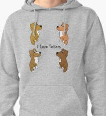 I Love Tollers! Pullover Hoodie