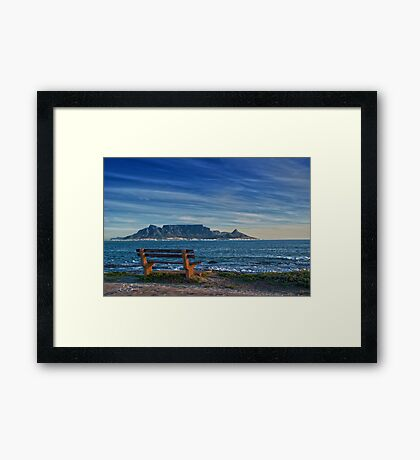 Benched View Framed Print