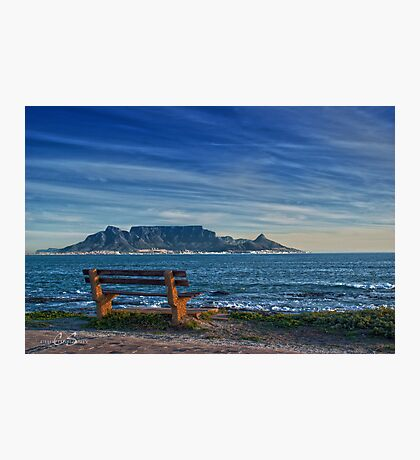 Benched View Photographic Print