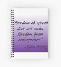 Tyler Oakley Quote Spiral Notebook