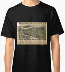 Camiseta clásica Panoramic Maps Aero view of Port Jervis New York 1920