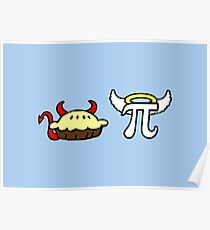 Devil Pie and Angel Pi Poster