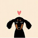 Dachshund Puppy Love by Jenn Inashvili