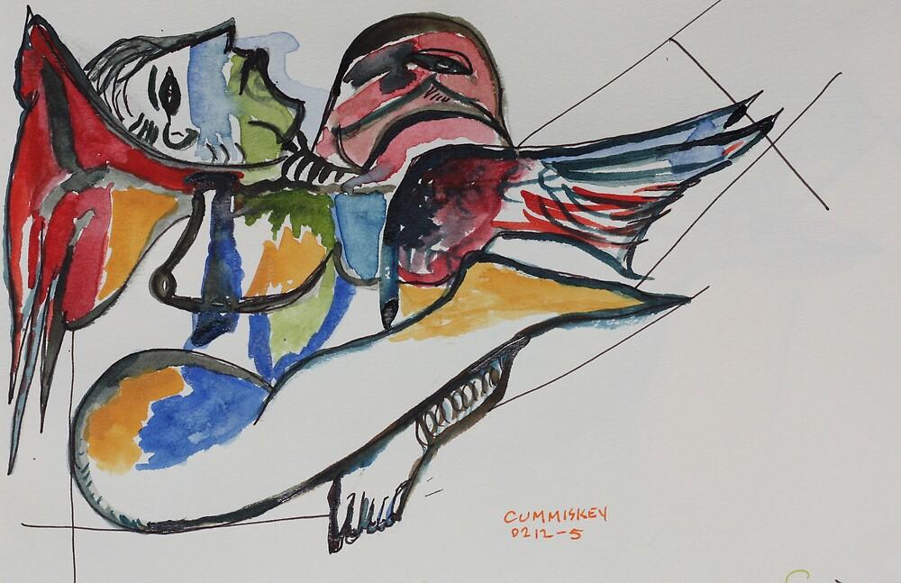 Lady & bird by Roger Cummiskey