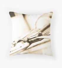 Wine Bottle Opener in Antique Light Throw Pillow