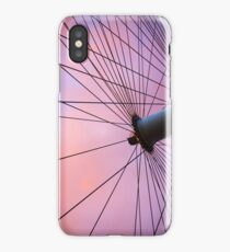 Lavender Sky and London Eye Wheel iPhone Case/Skin