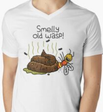 "Willy Bum Bum - ""Smelly Old Wasp!"" Men's V-Neck T-Shirt"