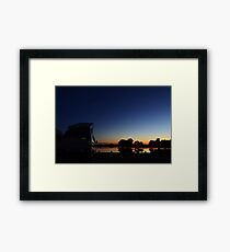 A good place to camp! Framed Print