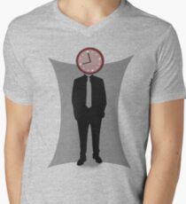 Clock-Face Men's V-Neck T-Shirt