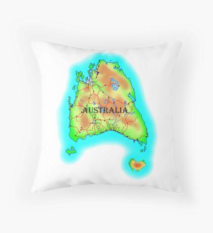 Tasmania's Australia Throw Pillow