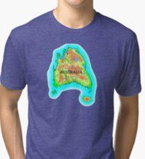 Tasmania's Australia Tri-blend T-Shirt