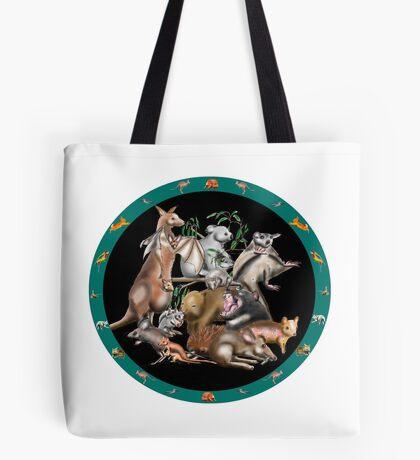 Australian fauna plate Tote Bag