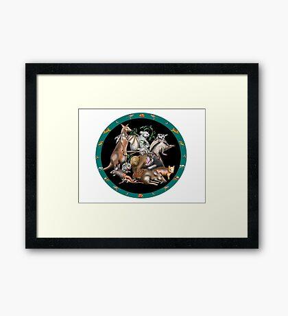 Australian fauna plate Framed Print