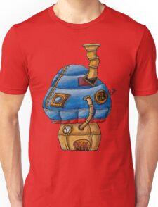 Blue Steampunk Mushroom Unisex T-Shirt