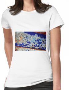 Birds Perch on Cherry Blossoms Womens Fitted T-Shirt