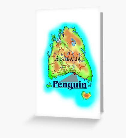 Penguin - Tasmania Greeting Card