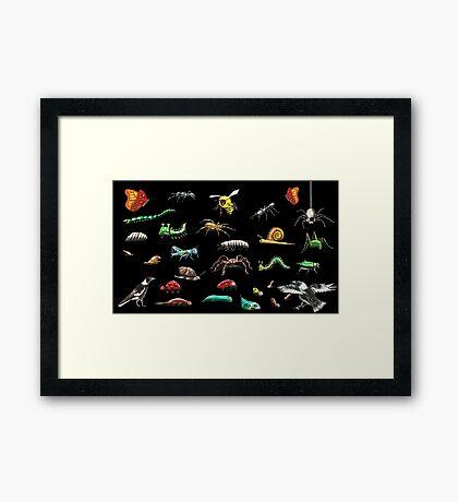 Creatures wallpaper Framed Print
