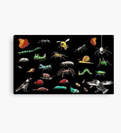 Creatures wallpaper Canvas Print