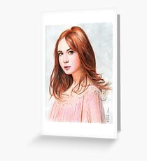 Amy Pond - Karen Gillan from Doctor Who saga Greeting Card