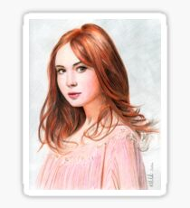Amy Pond - Karen Gillan from Doctor Who saga Sticker