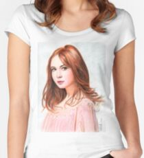 Amy Pond - Karen Gillan from Doctor Who saga Women's Fitted Scoop T-Shirt