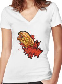 Chestbuster | The Xenomorph birth Women's Fitted V-Neck T-Shirt