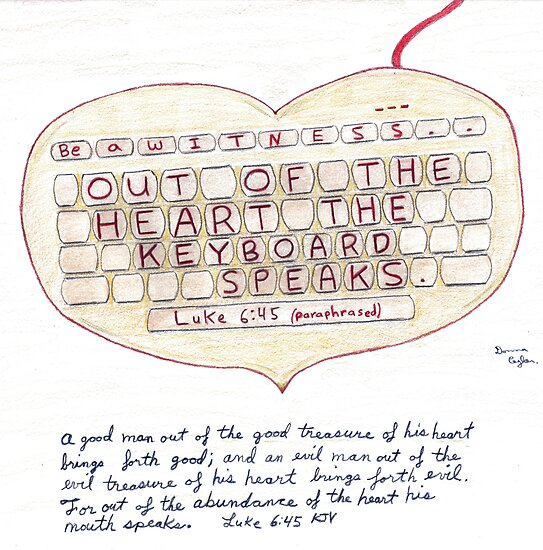Witness Art - Out of the Heart the Keyboard Speaks by djean