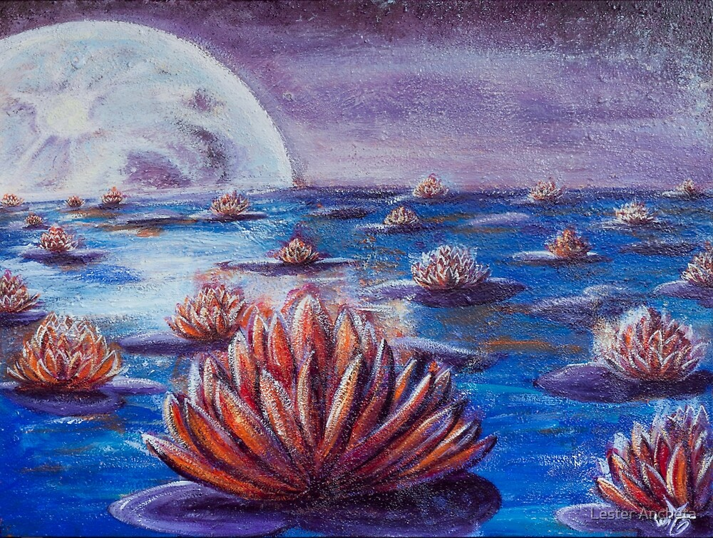 Lotus Moon by Lester Ancheta