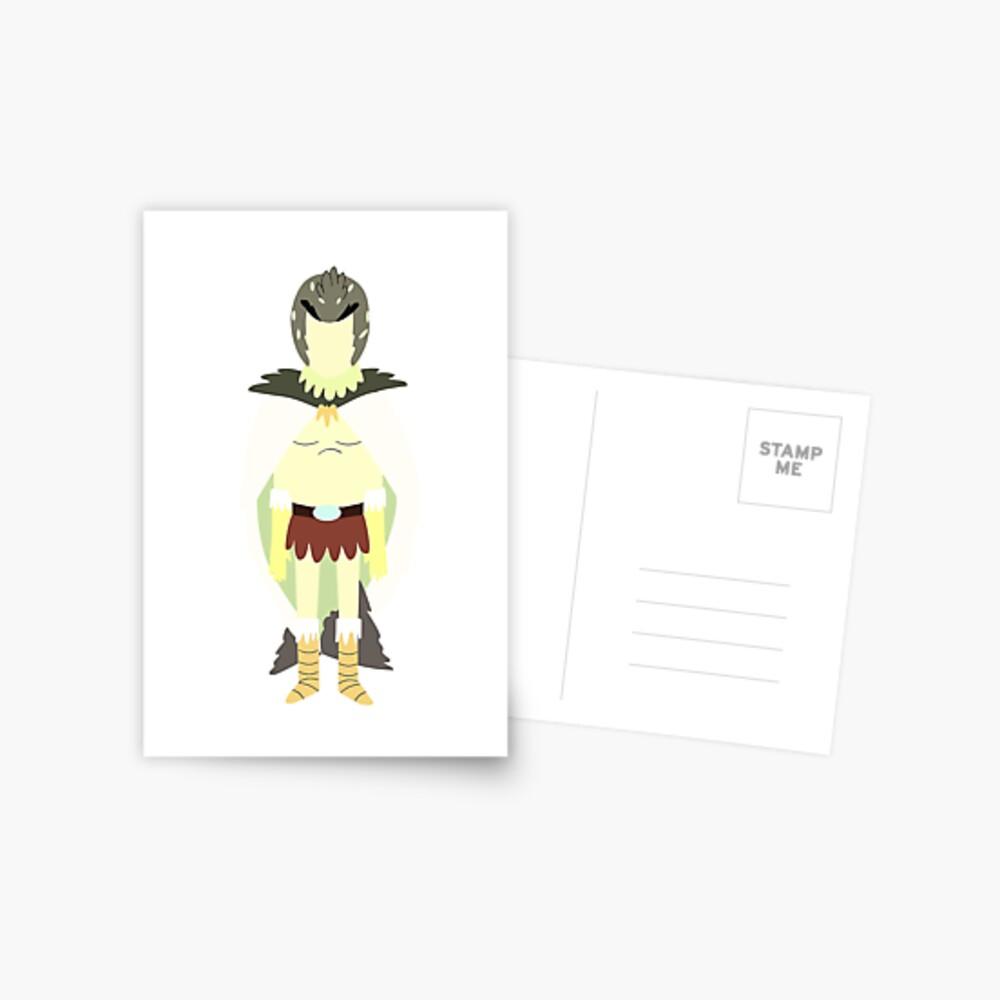 Minimalist Birdperson Postcard