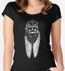 Cicada-front Women's Fitted Scoop T-Shirt