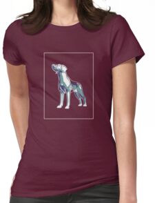 Dog Mauve Green E Womens Fitted T-Shirt