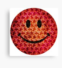 Smiley face - Escher graphic pattern Canvas Print