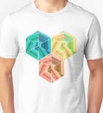 tea towel hexagon collage T-Shirt
