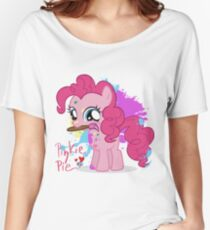 Pinkie Pie Color Splatter Women's Relaxed Fit T-Shirt