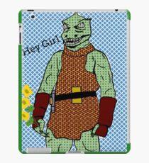 he's green, he's lean.. and he's err kind of an angry, alien reptilian iPad Case/Skin