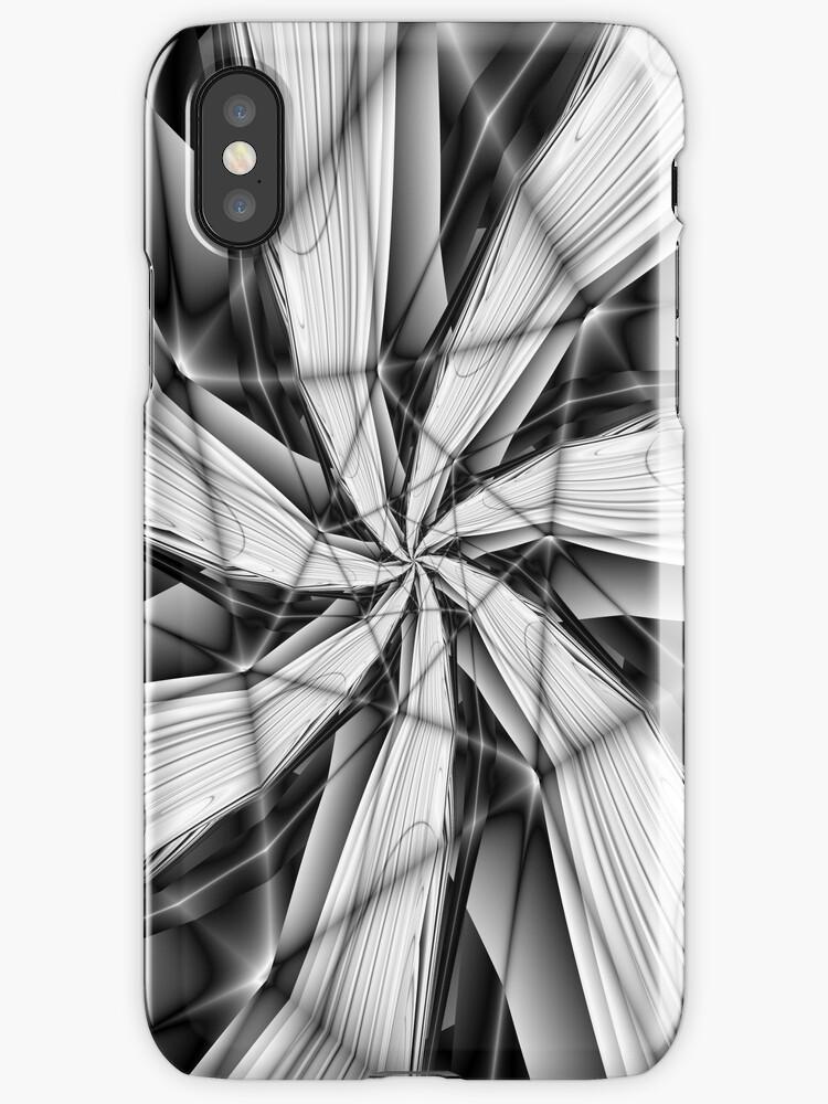 Broken Spokes in Black and White by Objowl