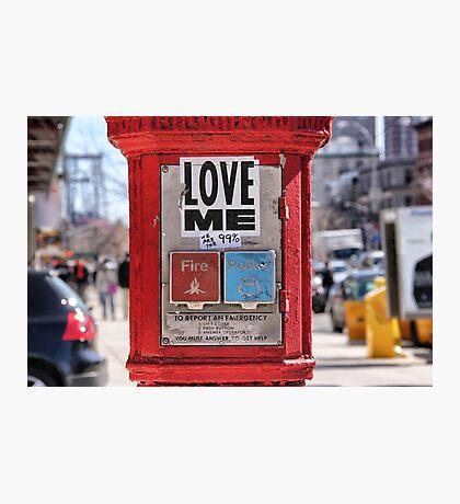 Love me Photographic Print