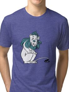 Cowardly Lion Illustration Tri-blend T-Shirt