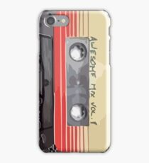 Awesome Mix retro tape iPhone Case/Skin