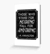 Stand or Fall Quote Greeting Card