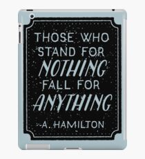 Stand or Fall Quote iPad Case/Skin