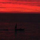 Red Sunset with a Boat - Puesta del Sol en Rojo y una Lancha, 60 views by PtoVallartaMex