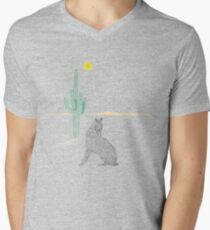 Howling coyote Mens V-Neck T-Shirt