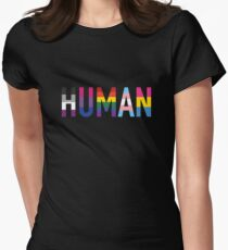 Human, LGBT+ Women's Fitted T-Shirt