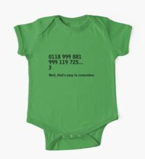 IT Crowd - emergency services One Piece - Short Sleeve