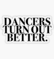 Pegatina transparente Los bailarines salen mejor