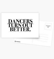 Postales Los bailarines salen mejor