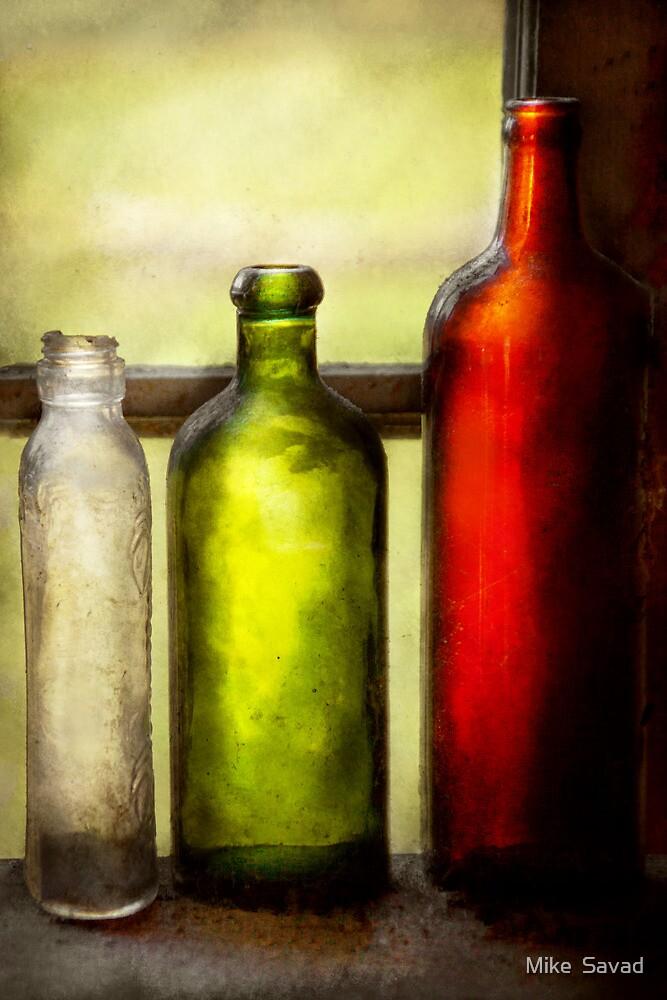 Collector - Bottles - Still life of three bottles  by Michael Savad