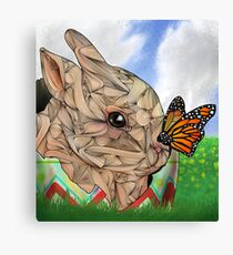 Bunny and Butterfly Canvas Print
